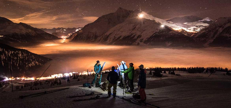 Ski de randonnée nocturne, La Rosière